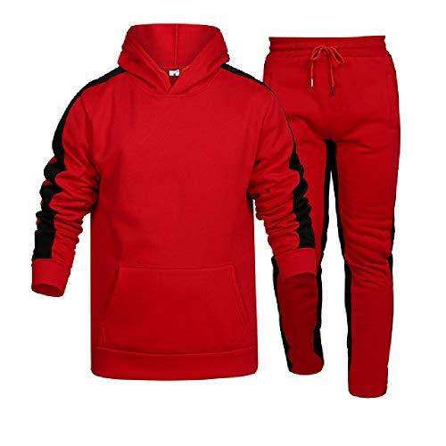 Rayas de manga larga sudaderas+pantalones conjunto masculino chándal deporte traje hombres gimnasio conjunto casual