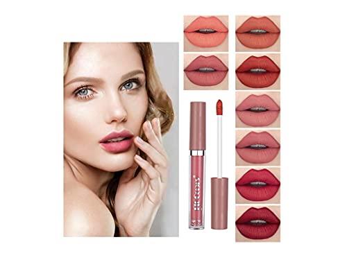 XIAOLIYU Matte Liquid Lipstick, 27 Colours Waterproof, Durable, Non-Fading, Non-Stick Cup, Waterproof Lipstick, Brilliant Lipstick, Cosmetics, Natural Velvet Colour Lipstick Gift for Women Girls