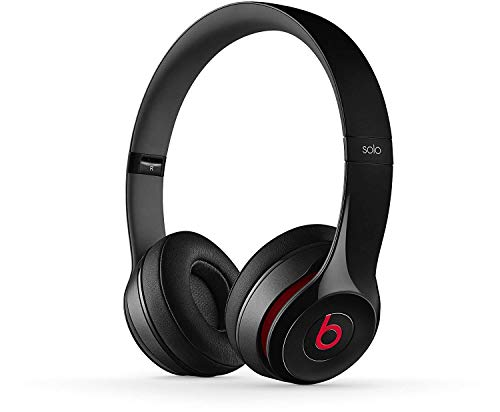 Beats by Dr. Dre Solo 2 On Ear Bluetooth Headphones Apple W1 Headphone Chip | Active Noise Cancelling | 12 Hours of Listening Time | Beats Foldable Headphones for iOS & Android - Black (Renewed)