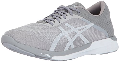 ASICS Womens fuzeX Rush Running Shoe, White/Silver/Mid Grey, 11 Medium US