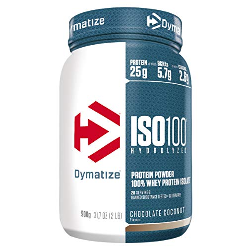 Dymatize ISO 100 Chocolate Coconut 900g - Whey Protein Hydrolysat + Isolat Pulver
