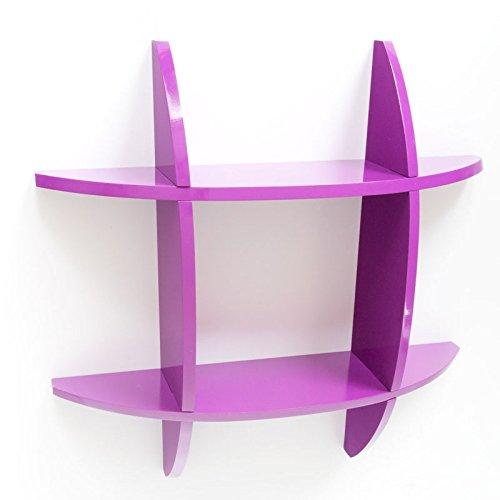 PEGANE Étagère Cube Murale Bibliothèque en Bois laqué Brillant Purple, Dim : 60 x 60 x 11 cm