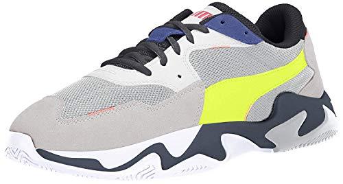 PUMA unisex adult Storm Sneaker, Puma White-glacier Gray, 6 US