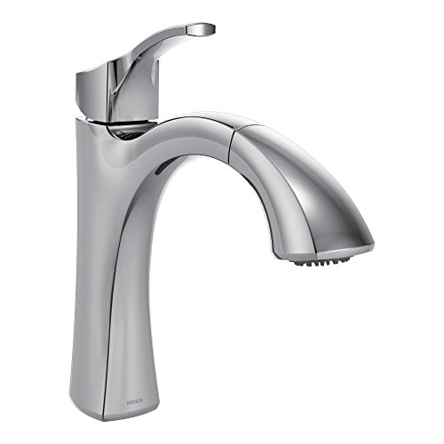 Moen 9125C Voss One-Handle Pullout Kitchen Faucet with Power Clean and Reflex, Chrome