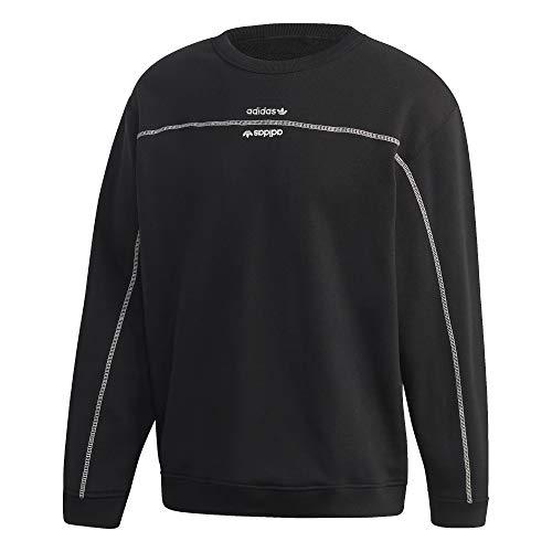 Adidas Crew Sweater Sweatshirt (M, Black)
