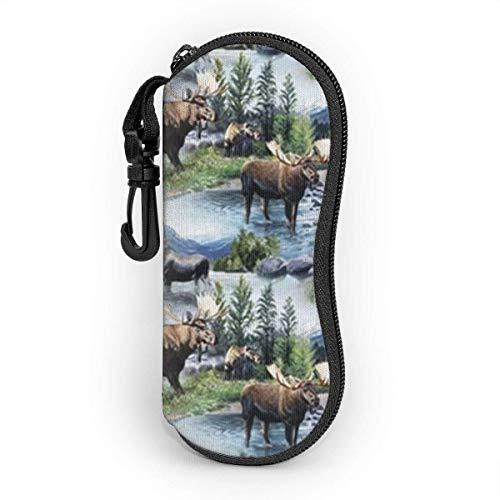 Eyeglasses Case Herd Men's and Women's Personality Fashion Durable Portable Eyeglasses Case 3.1 X 6.1In Waterproof Sunglasses Case Zipper Hard Shell
