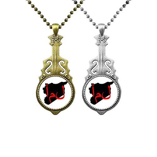 Halskette mit Anhänger mit asiatischem Zitat und Hoffnung, Musik, Gitarre, Schmuck