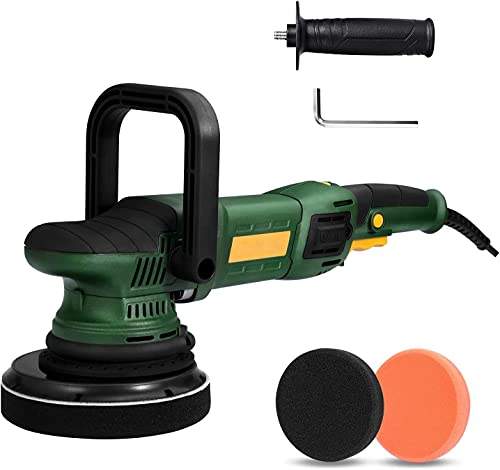 Car Polisher, 1050W Dual Action Electric Polisher with 6 Variable Speeds, D & Side Handle, Car...