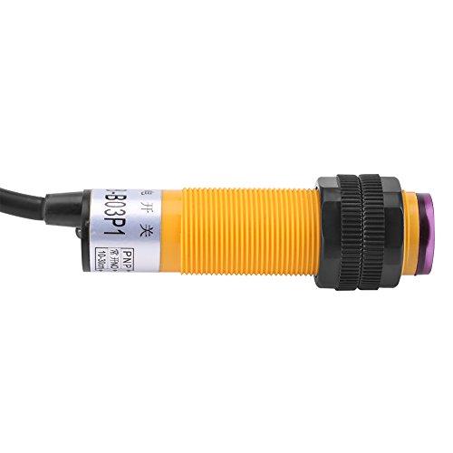 Interruptor de Sensor, E18-B03P1 Interruptor fotoeléctrico Sensor fotoeléctrico fotoeléctrico 6-36vdc Hecho de plástico y componentes electrónicos