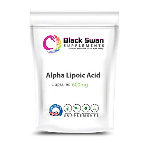 Black Swan Alpha Lipoic Acid Supplements | Anti-oxidant and Anti-inflammatory Properties | Support metabolic Functions, Sugar Level and Nervous Function | Healthy Blood Sugar Level | 600mg (120 caps)
