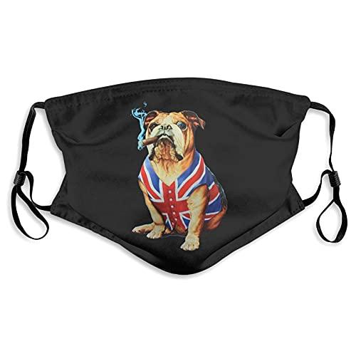 English Bulldog Outdoor Mask,Protective 5-Layer Activated Carbon Filters Adult Men Women Bandana
