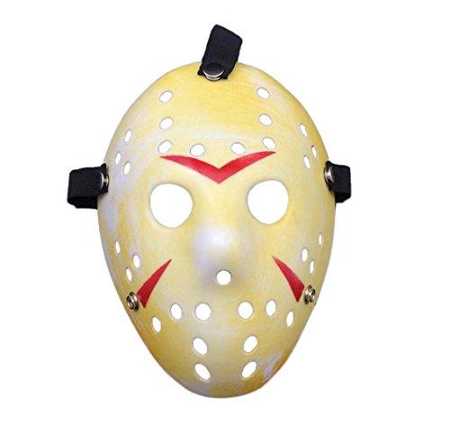 Ultra Adultos Niños Máscara Amarillo Moteado Halloween vs Máscara de Hockey sobre Hielo Disfraz Hombre Mujer Freddy Festival Cosplay Disfraces