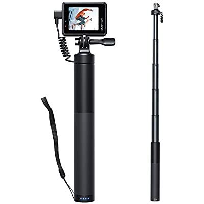 APEMAN Action Camera Rechargeable Selfie Stick SS200,Handheld Stick Type 2600Mah Mobile Power with USB Cable Retractable Aluminum Selfie Stick for APEMAN/victure/Crosstour/AKASO/Gopro Sports Camera from APEMAN