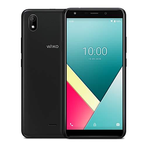 """Wiko Y61 + Carcasa + Cristal Templado - Smartphone 4G de 6"""" (3000mAh de batería, Dual SIM, 16 GB de ROM, Quad Core 1,8GHz, 1 GB de RAM, cámara 8MP, Android 10 Go Edition) Deep Grey"""