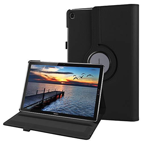 Fintie Hülle für Huawei Mediapad M5 10.8 / M5 10.8 Pro - Schlank 360 Grad Rotierend Stand Schutzhülle mit Auto Schlaf/Wach Funktion für 10.8 Zoll Huawei MediaPad M5 2018 Modell Tablet PC,Schwarz