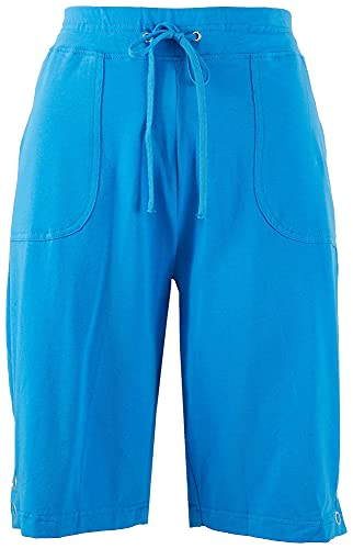 Onque Casual Womens Trendy Lounge Solid Bermuda Shorts X-Large Blue