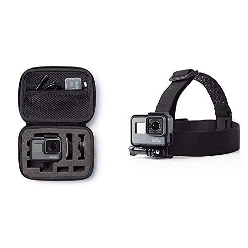 AmazonBasics - Fascia da testa per fotocamera/videocamera GoPro & Custodia per trasporto GoPro, misura Extra-Small