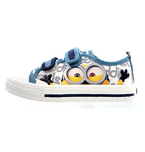 Flache Leinen-Schuhe mit Minions-Motiv, Blau - blau - Größe: 30 EU Kind