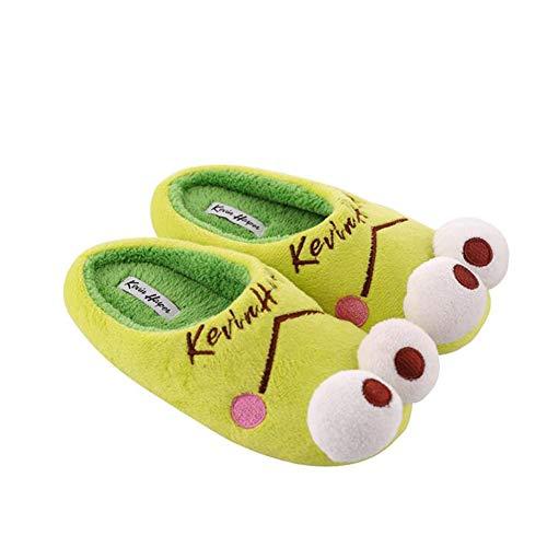 Yvonnelee Familie-set pantoffels slippers kikker lief slipvast knuffelig winter, kikker meisje heren kind