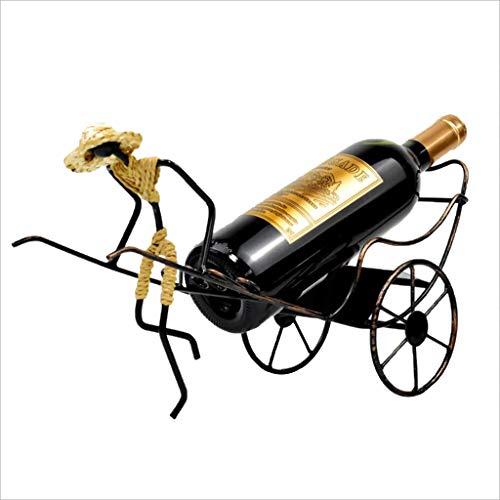 H HILABEE Soporte para Botella de Vino para Bicicleta Vintage, Accesorios para El Hogar, Almacenamiento de Cocina