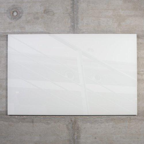 raum-blick Glas Magnettafel MAX inkl. 5 Magnete, Magnetspiegel/Glasmagnettafel/Magnetboard/Magnetwand (weiß, 80 x 50 cm)