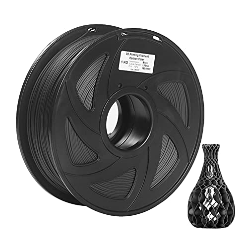 Printer Accessories 3D Printing Filament Carbon, 3D Printer Filament Carbon Fiber + PLA 1.75mm 1kg Spool Dimensional Accuracy +/- 0.02mm