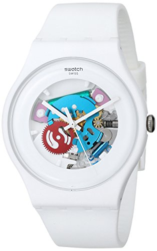 Swatch White Lacquered Ladies Watch SUOW100: Watches