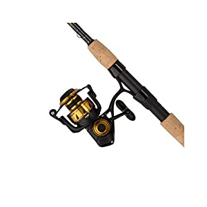 """Penn Spinfisher VI Saltwater Combo, 5.6:1 Gear Ratio, 6"""" Bearings, 10' Length 2pc, 15-30 lb Line Rate, Ambidextrous"""