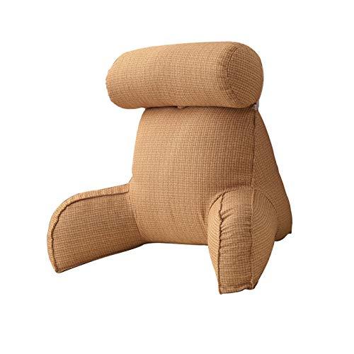 Cuscino da lettura con bracciolo, fodera in peluche rimovibile, cuscino rimovibile per supporto schienale morbido, comodo cuscino per divano letto