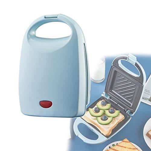 HUA JIE Aperitivo y Panini Sandwich Maker-Tostadora, la Temperatura de Control Automático, se calienta uniformemente en Ambos Lados, Platos hondos Revestimiento Antiadherente, Ideal para el Desayuno