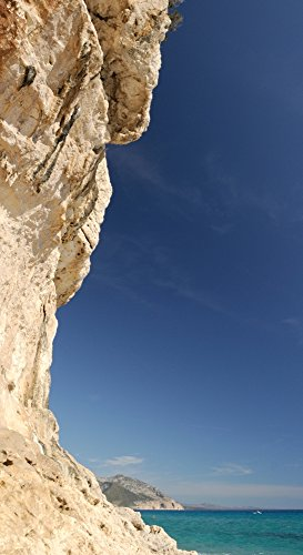 Posterazzi Limestone cliffs on the beach Luna Cala Gonone Nuoro Sardinia Italy Poster Print, (27 x 9)