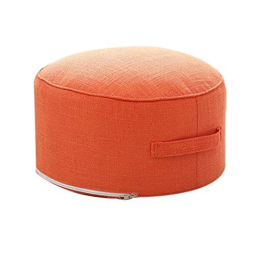 Gesh Cojín redondo de esponja de alta resistencia para asiento Tatami, para meditación o yoga (naranja)