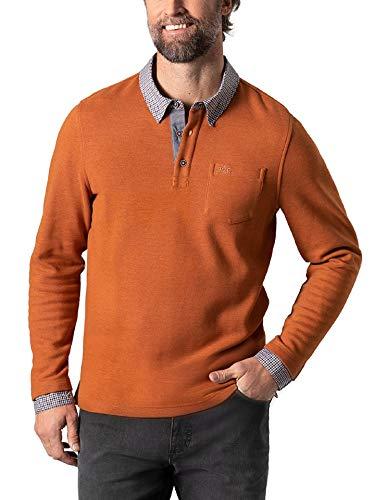 Walbusch Herren Hemd Pullover 2 in 1 einfarbig Terra 48