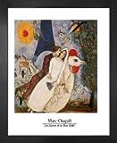 1art1 Marc Chagall Poster Kunstdruck und MDF-Rahmen - Les