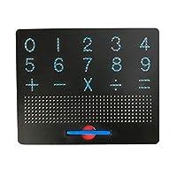 XFHA 磁気タブレット描画ボードパッド玩具ビーズマグネットスタイラスペン26のアルファベット番号の書き込みメモボードラーニング教育キッド玩具 ペイントに適したツール (Color : 123)