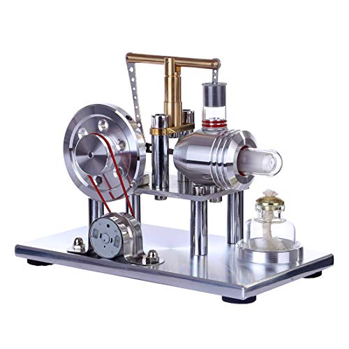 TETAKE Stirlingmotor Generator Metall Modell Bausatz Sterling Motoren Stirling Engine Kit Dampfmaschine Spielzeug Pädagogisch für Kinder Erwachsener