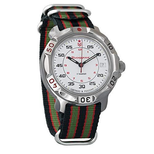 Vostok - Reloj de pulsera militar Komandirskie WR 30 m para hombre
