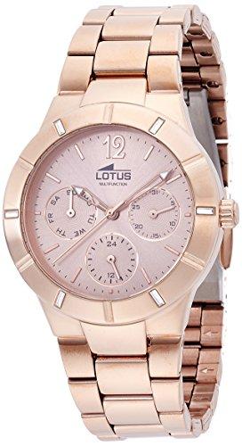 Lotus Reloj de Pulsera analógico para Mujer, Cuarzo, Acero Inoxidable 15915/2