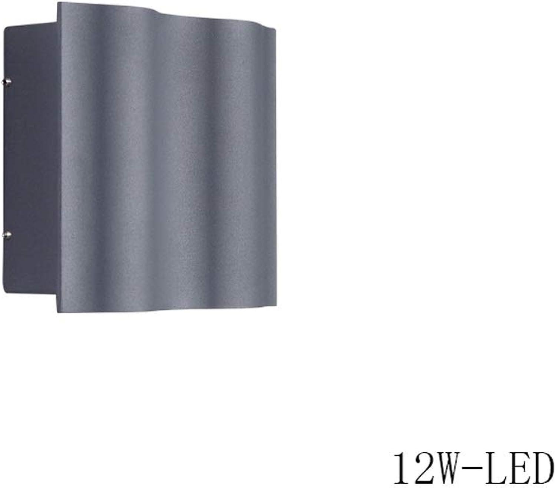 6w   12w   18w auen wasserdicht IP55 Auenwandstrahler Auenwandleuchte Post moderne graue Wandleuchte Wandlampen Korridor Hof Garten Balkon Eingang Gang (Gre   12W)
