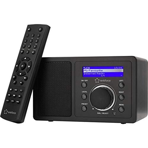 Renkforce RF-IR-MONO1 Internet Tischradio Internet Bluetooth®, AUX, Internetradio, WLAN DLNA-fähig Schwarz