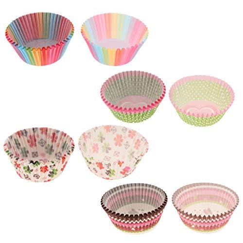 Baoblaze 100 Pcs Envoltura De Cupcake Wrapper Moldes Para Magdalenas Vasos De Desechables Para Pastel