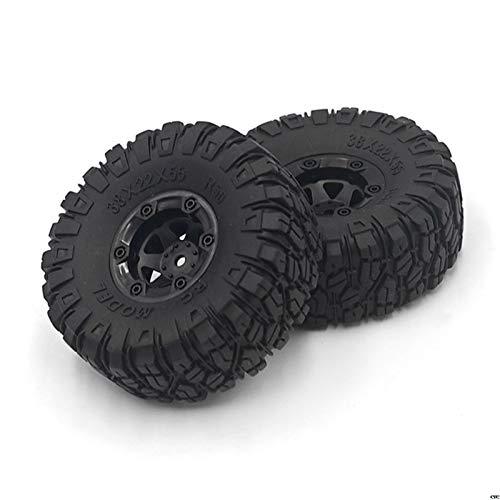 Farleshop Actualice los neumáticos Grandes para WLTOYS 12428/12423 para Feiyue 01/02/03/04/05 Q39 Q40 Q46 RC Repuestos de automóviles (Color : 1set(2pcs))