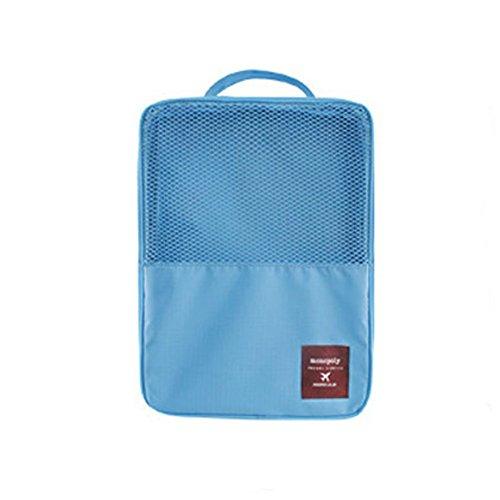 DELEY Voyage Camping Chaussures Sous-Vêtements Storage Bag Organisateur Sac Bleu