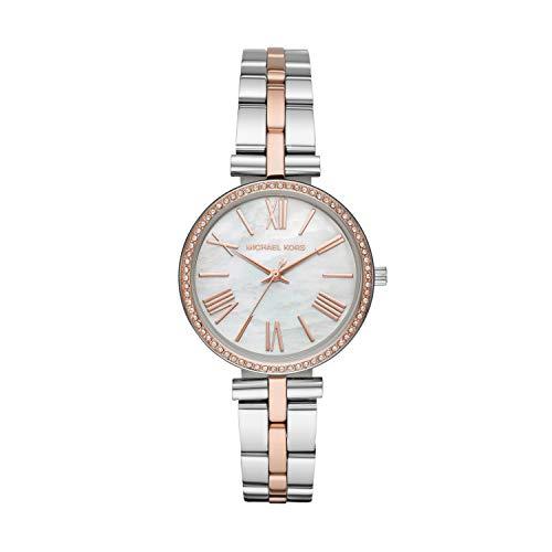 Michael Kors Damen Analog Quarz Uhr mit Edelstahl Armband MK3969