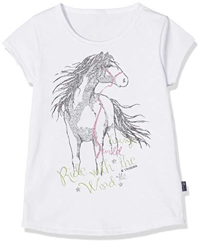 Trigema Mädchen 236248119 T-Shirt, Weiß (Weiss 001), (Herstellergröße: 140)