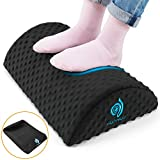 HUANUO Under Desk Foot Rest - Ergonomic Footrest with 2 Optional Covers Massage Textured Surface & Non-Slip Micro Beads for Airplane, Travel, Ergonomic Foot Stool Cushion