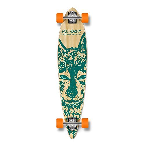Yocaher Spirit Wolf Longboard Complete Skateboard Cruiser  Available in All Shapes Pintail