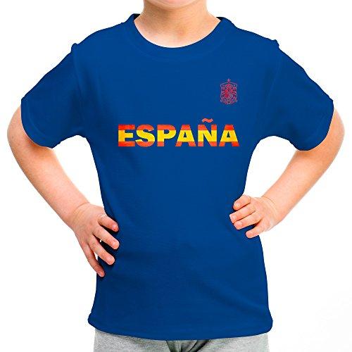 LolaPix Camiseta España Personalizada con tu Nombre y Dorsal   Selección Española   Varios Diseños Tallas   100% Algodón   Niño   Azul: Amazon.es: Hogar