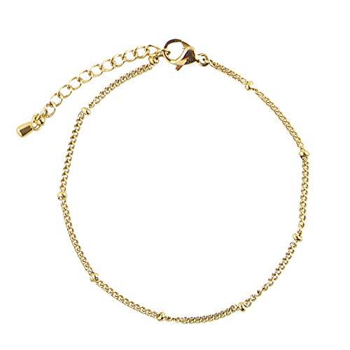 JoJo Sinara Filigraan armband met kleine bolletjes kralen en miniparels van verguld roestvrij staal