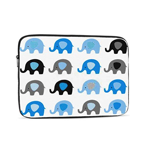 Cute Elephant Vector Set Elephants Patterned Pattern 17' Laptop Sleeve Bag 17.3' 17.4' Inch Notebook Computer Pc Neoprene Protection Zipper Case Cover